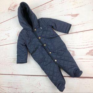 Ralph Lauren | Quilted Puffer Snowsuit, 6M NWT
